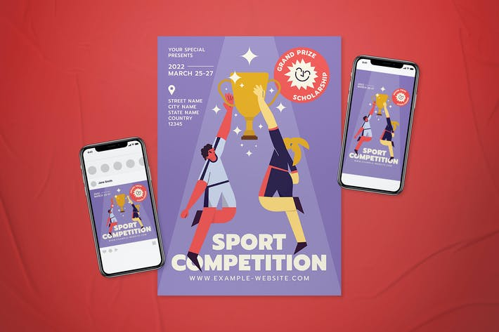 Thumbnail for Sport Competition Flyer Set