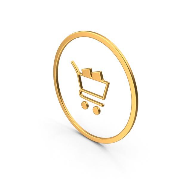 Thumbnail for Shopping Card Symbol Gold