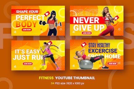 Aufgeregt Fitness Youtube Thumbnail Vorlage