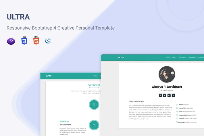 Thumbnail for Ultra - Responsive Resume & CV Template