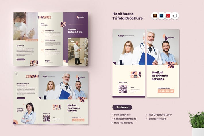 Thumbnail for Medical Healthcare Trifold Brochure