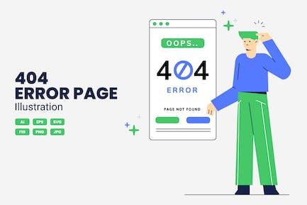 404 Error Vector Illustration