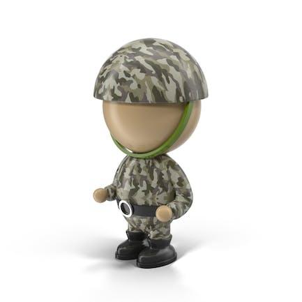 Personaje de soldado