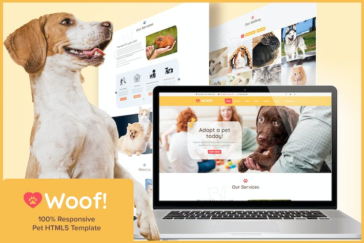 Thumbnail for Woof! - Pet HTML5 Template
