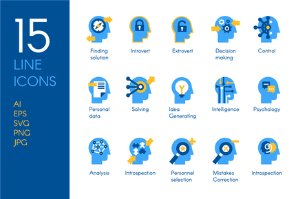 Brain Processes Icons Set