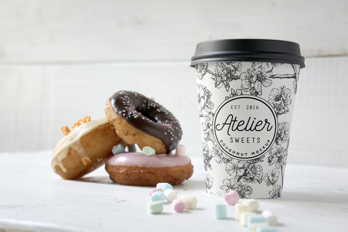 Thumbnail for Coffee Doughnut Mockup