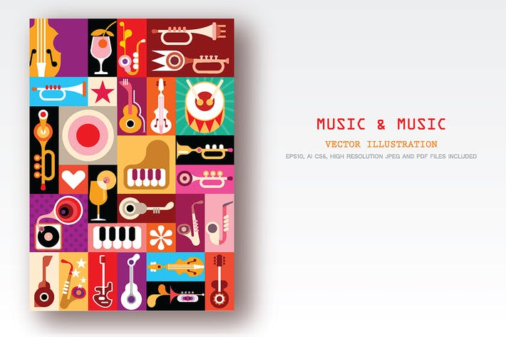 Thumbnail for Music and Music vector collage