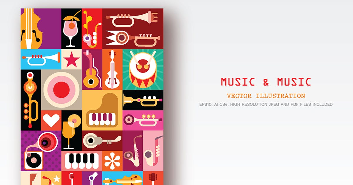 Download Music and Music vector collage by danjazzia