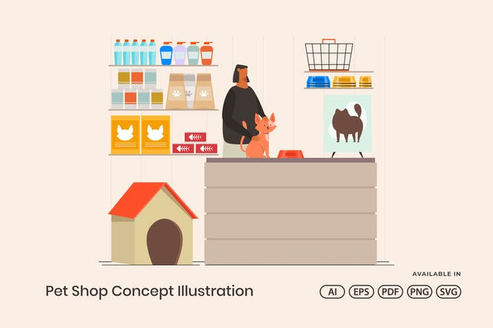 Thumbnail for Pet Shop Concept Illustration