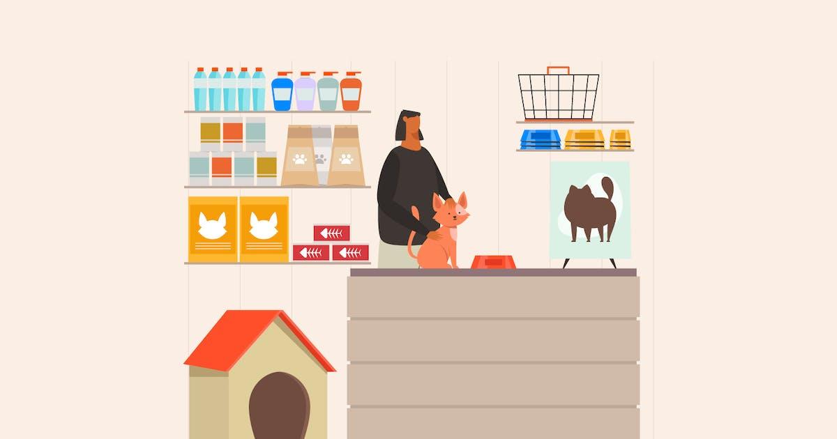 Download Pet Shop Concept Illustration by visuelcolonie