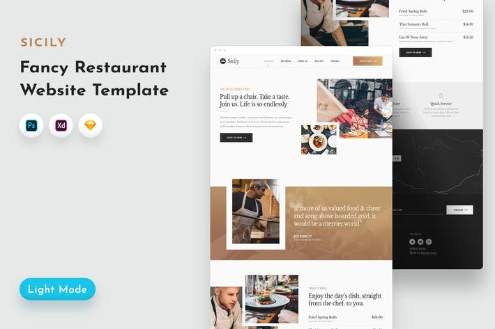 Thumbnail for Sicily Restaurant Template
