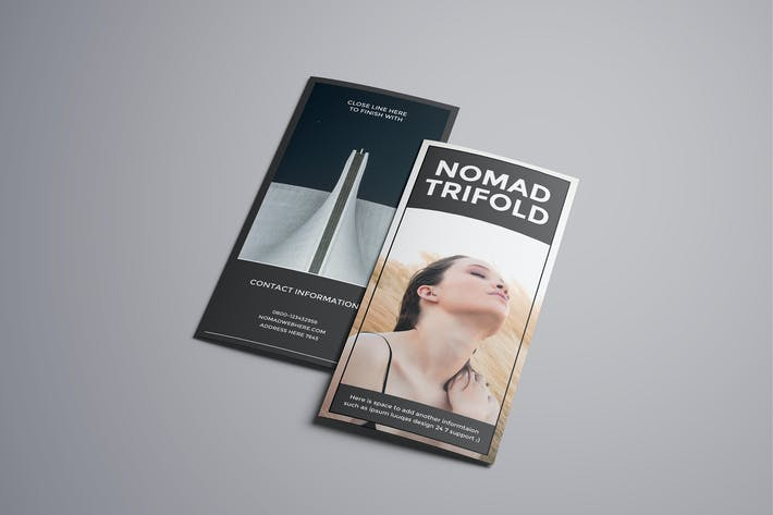 Thumbnail for Nomad A4 Trifold Brochure