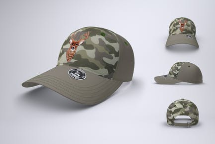 Baseball Cap or Trucker Hat Mock-Up