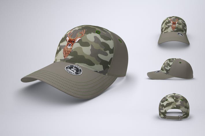 Baseball Cap or Trucker Hat Mock-Up