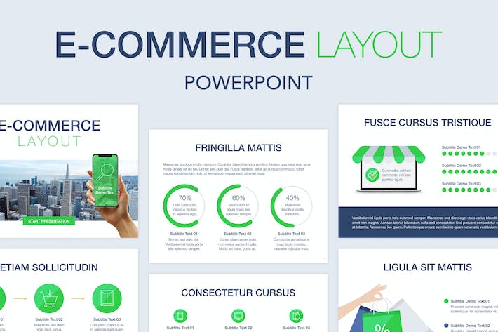 Thumbnail for E-Commerce PowerPoint Template