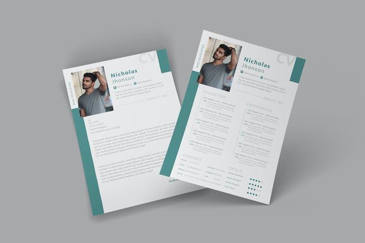 Thumbnail for Toscana CV Resume