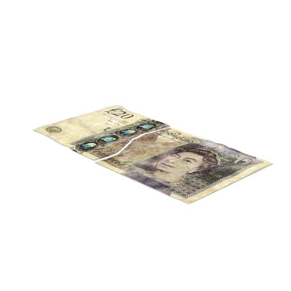 20 Pound Note Torn