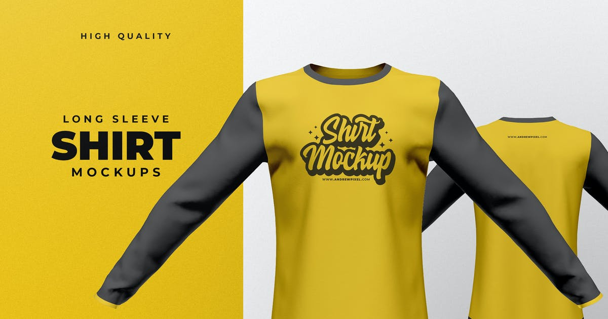 Download Long Sleeve Shirt Mockup by andrewtimothy