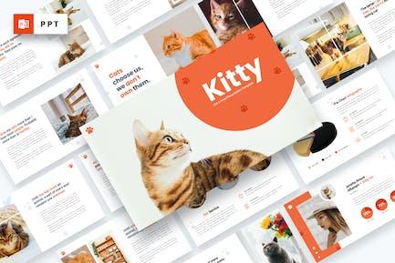 Kitty - Cat Animal Powerpoint Template