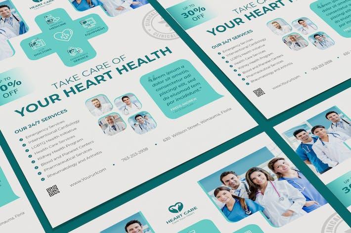 Thumbnail for Modèle d'affiche médicale PSD