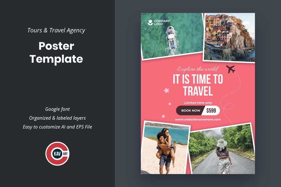 Tours And Travel Agency Poster Template