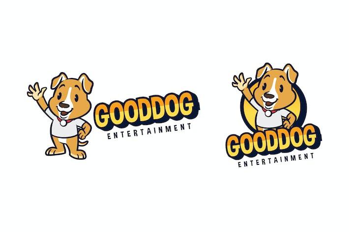 Thumbnail for Cartoon Friendly Dog Mascot Character Logo