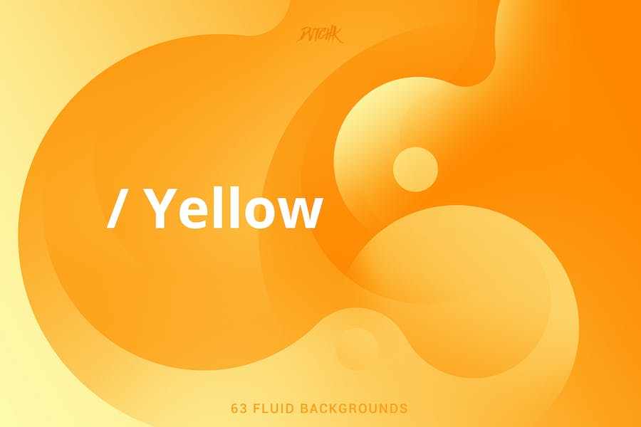 Yellow   Soft Fluid Backgrounds