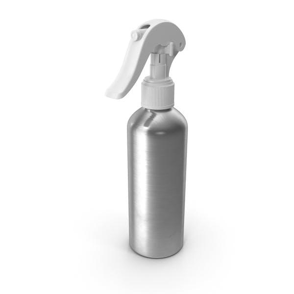 Botella de Aluminio con Spray Blanco Top 150 ml