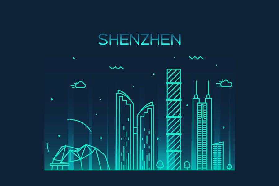 Shenzhen skyline, China