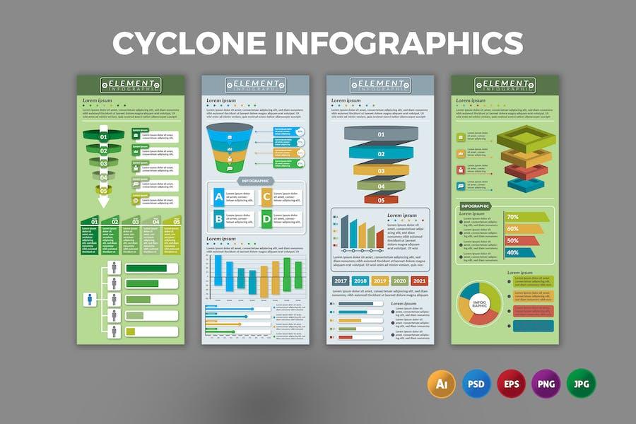 Cyclone – Infographics Design