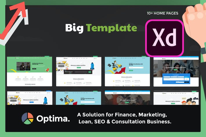 Thumbnail for Optima - SEO & Consultation Business XD Template