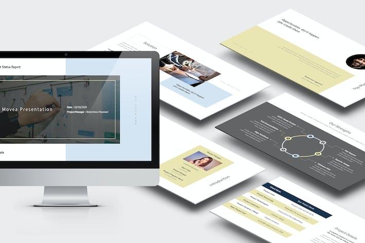 Thumbnail for Movea : Project Status Report Google Slides