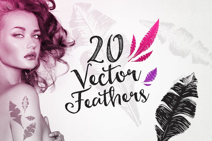 Thumbnail for 20 Feather Vectors