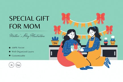 Special Gift for Mom Illustration