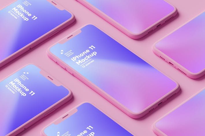 Thumbnail for Pink Iphone and MacBook Mockups Pack