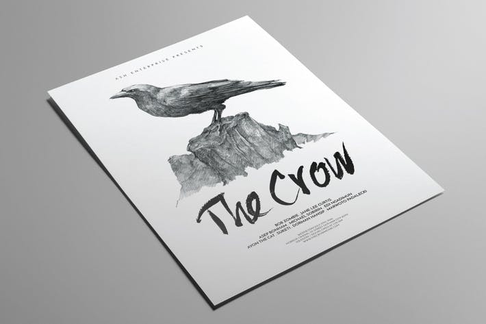 Thumbnail for The Crow Illustrated Flyer Poster