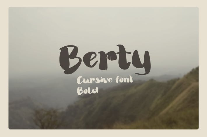 Cover Image For Berty - Bold thick thin brush