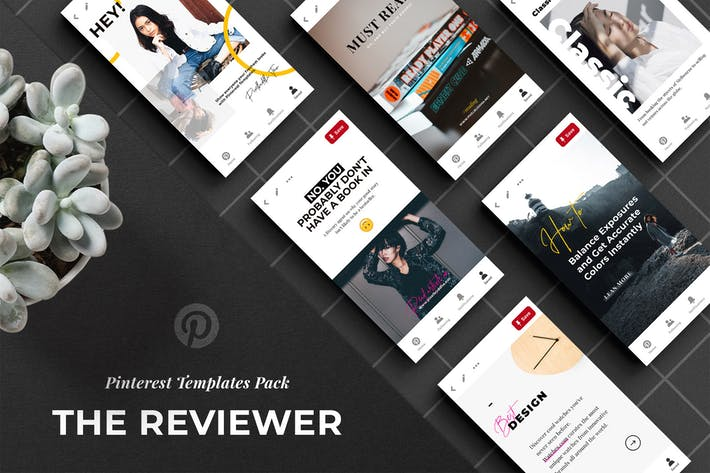 Thumbnail for The Reviewer Pinterest Templates Set