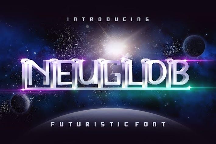 Thumbnail for Neuglob GJ - Futuristic Font