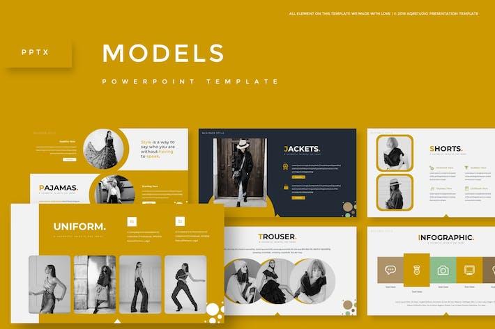 Thumbnail for Модели - Шаблон Powerpoint