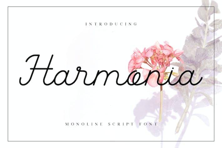 Thumbnail for Harmonia Monoline Script Font