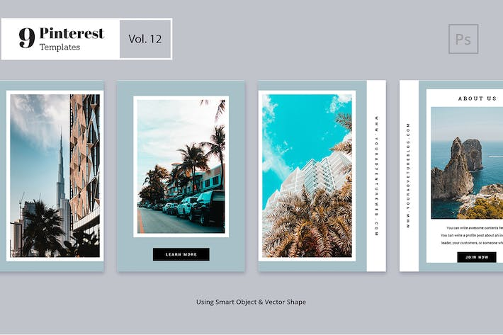 Thumbnail for Pinterest Templates Vol. 12