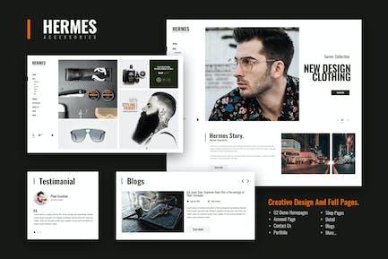 Hermes Zubehör - E-Commerce PSD Vorlage