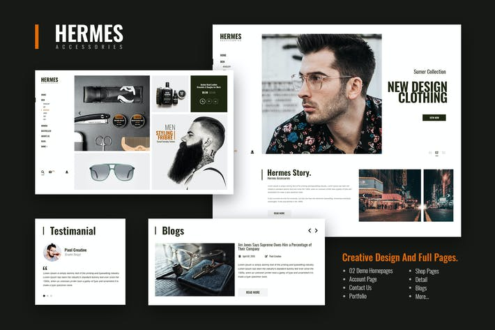 Thumbnail for Hermes Accessories - Ecommerce PSD Template