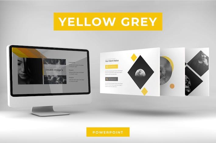 Thumbnail for Желтый серый - Powerpoint Шаблон