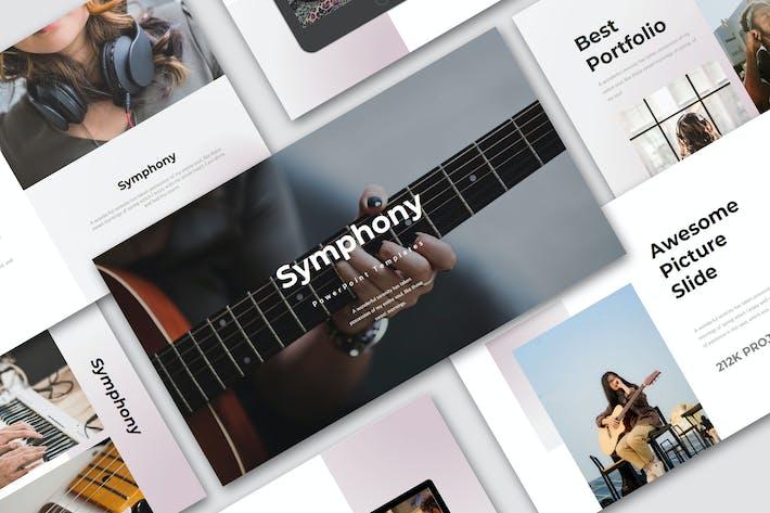 Cover Image For Симфония — Шаблон креативного бизнес-Keynote