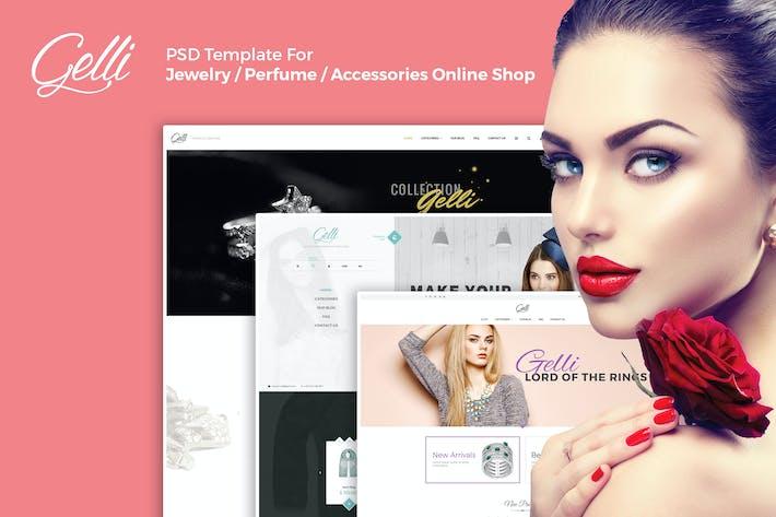 Thumbnail for Gelli - E-Commerce PSD-Vorlage