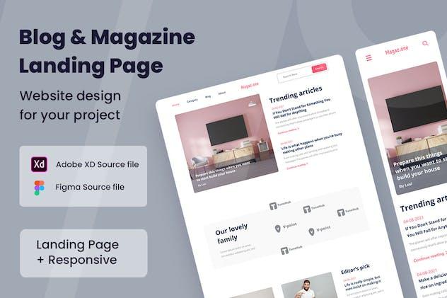 Magazine Blog Web Design