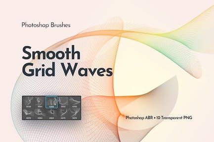 Протекающие сетевые волны Photoshop Кисти