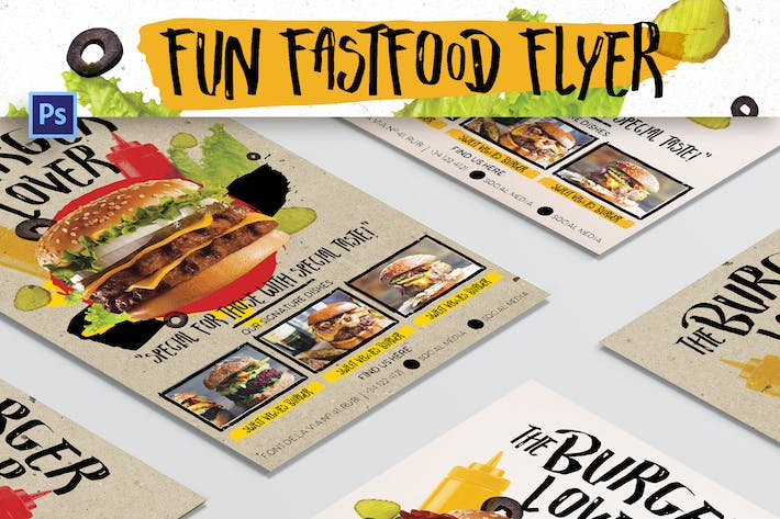 Thumbnail for Fun Fast Food Flyer
